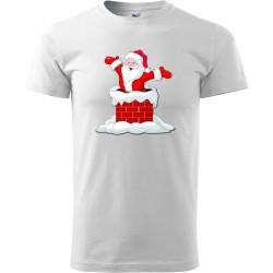 Tričko Santa v komínu