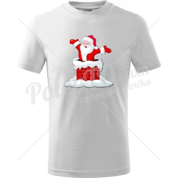 Dětské tričko Santa v komínu