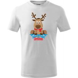 Dětské tričko Sob s vločkou a Merry Christmas