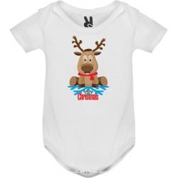 Dětské body tričko Sob s vločkou a Merry Christmas