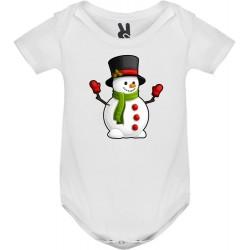Dětské body tričko Sněhulák