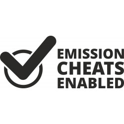 Emission cheats enabled