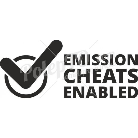 Emission cheats enabled