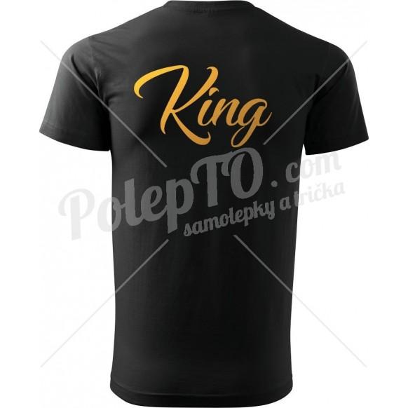 Tričko K - King se zlatým potiskem