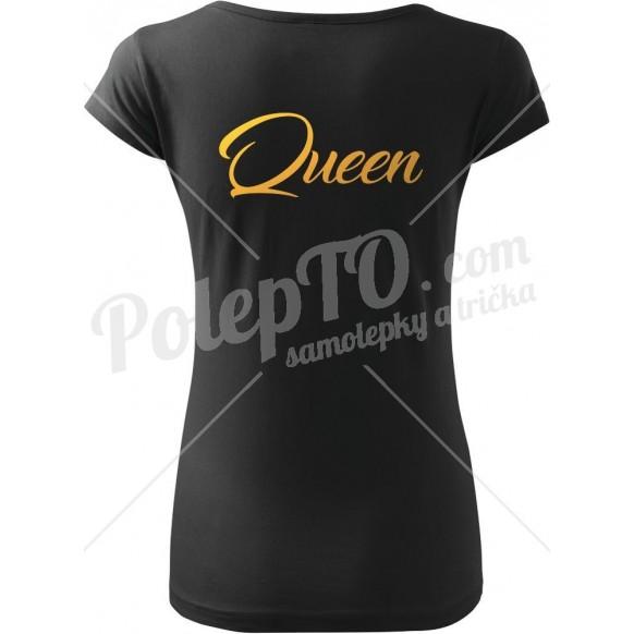 Tričko Q - Queen se zlatým potiskem