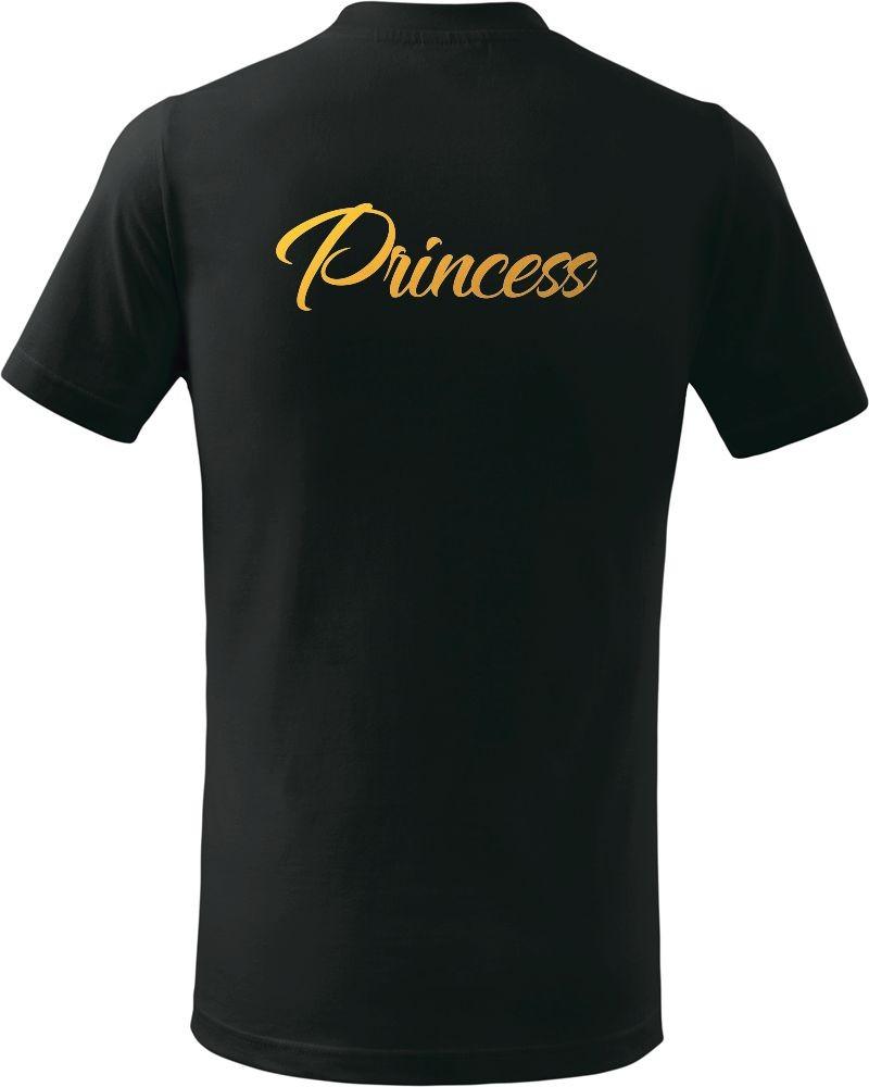 Dětské tričko P - Princess se zlatým potiskem 6b991718e5