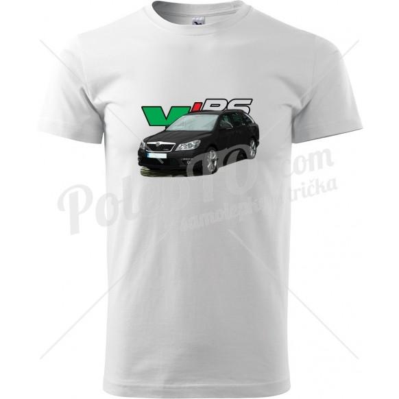 Tričko Octavia 2 RS facelift combi černá