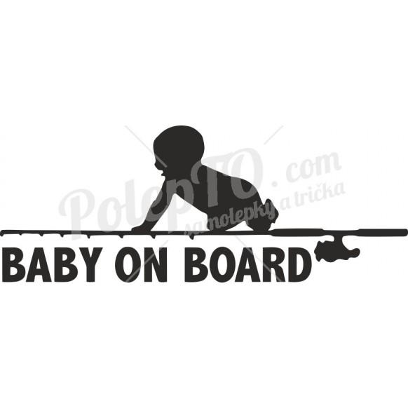 Baby on board s rybářským prutem