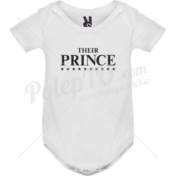 Body tričko Their prince s hvězdami