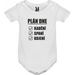 Body tričko Plán dne: kadění, spaní, kojení