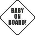 Baby on board trojůhelník